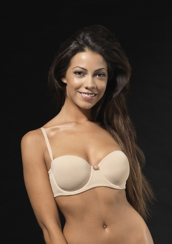 After Eden strapless Bh in skin en wit B,C,D,E-cup