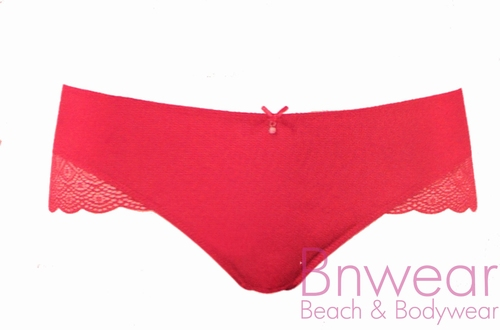 Slip Luna in tango red en tea roze en wit 144162