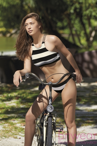 Crop top bikini  van Olympia 31062 in crossback