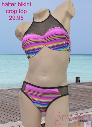 Crop top bikini in fluor design