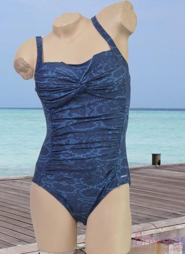 Manouxx badpak gevoerd in blauw met softcup
