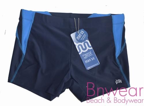 Sportieve heren zwemshort in blauw met binnenbroek