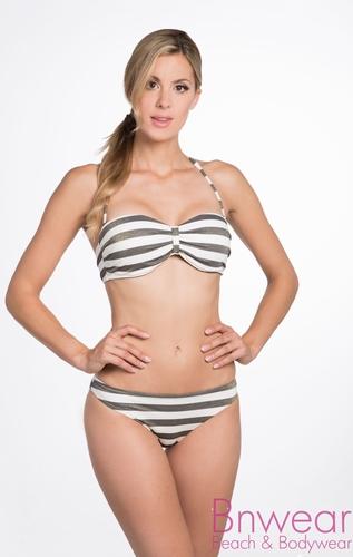 Bomain Gold stripe bandeau bikini met cups 27919
