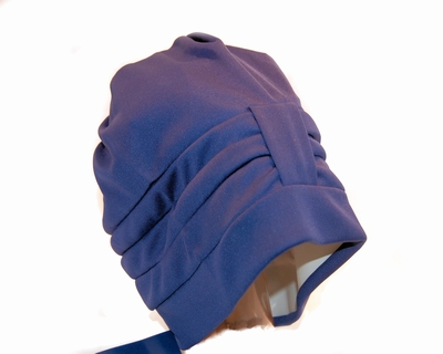 Badmuts van Beco in blauw stof