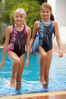 Beco meisjes sportbadpak met crosback 6827