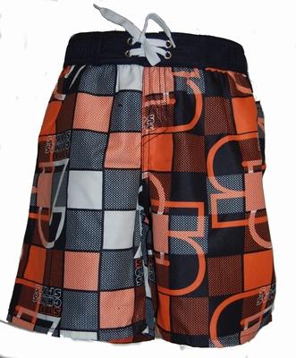 Zwemshort voor jongens in oranje print