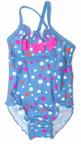 Meisjes badpakje in de kleine maten in blauw