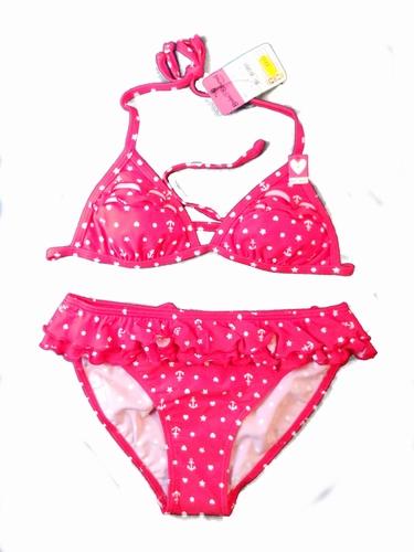 Rode triangel bikini Boobs & Bloomers met franjes