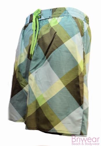 Nickey Nobel zwemshort in groen grijze print