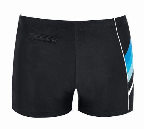 Heren zwemshort in zwart met turquase