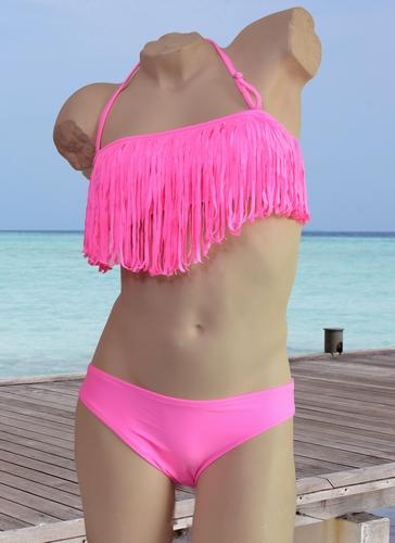 Fringe franje bikini in bandeau model