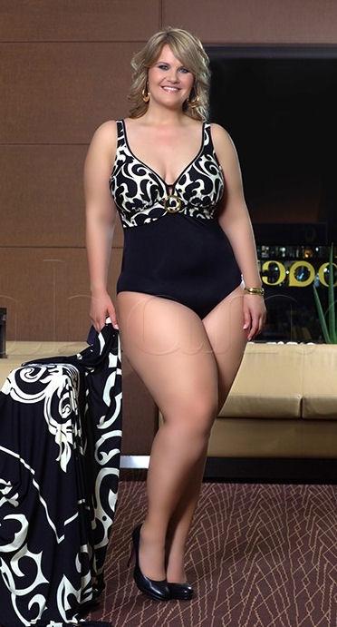 Bahama Luxe badpak in zwart met gesp