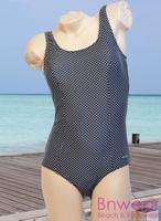 Badpak Manouxx Black dots in zwemkwaliteit 40-48